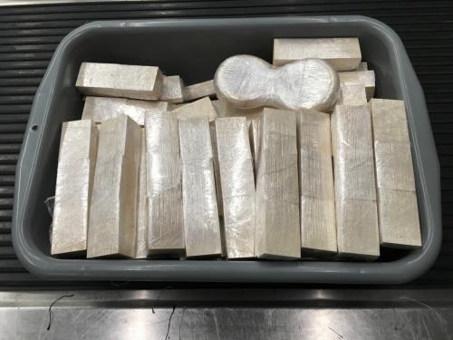 香港机场检获约40公斤疑似象牙制品两男子被捕