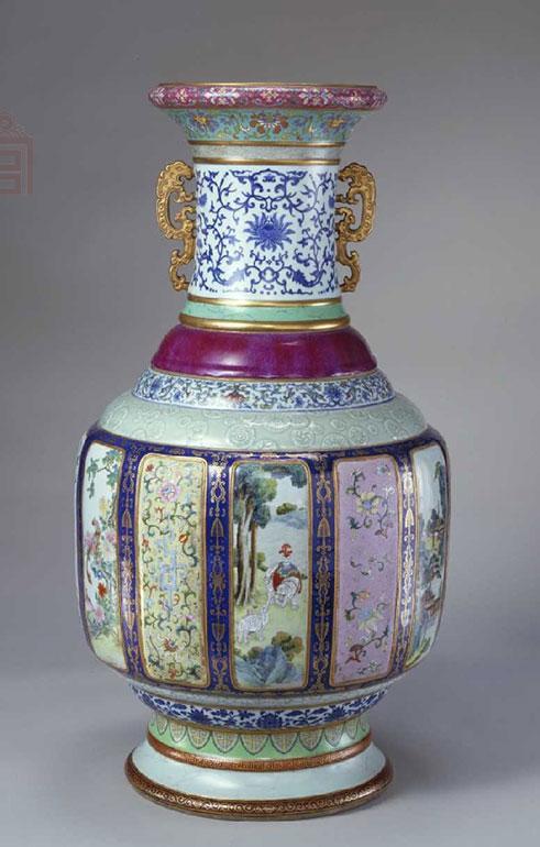 各种釉彩大瓶,清乾隆,高86.4cm,口径27.4cm,足径33cm