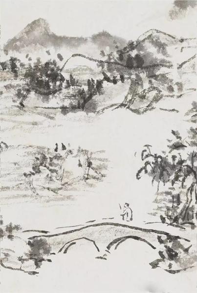 「江行曾写此景。」