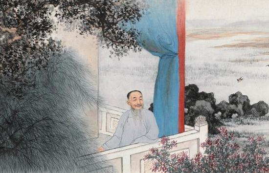 上海博物馆藏《刘定之像》(局部)