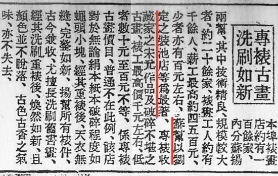 1942年《申报》配资公司 上海装裱行业及刘定之装池的报道