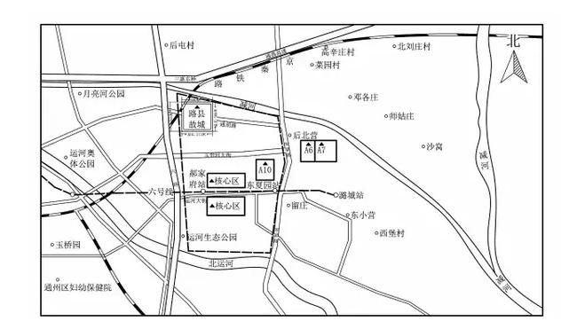 通州墓葬群考古发掘区域位置示意图
