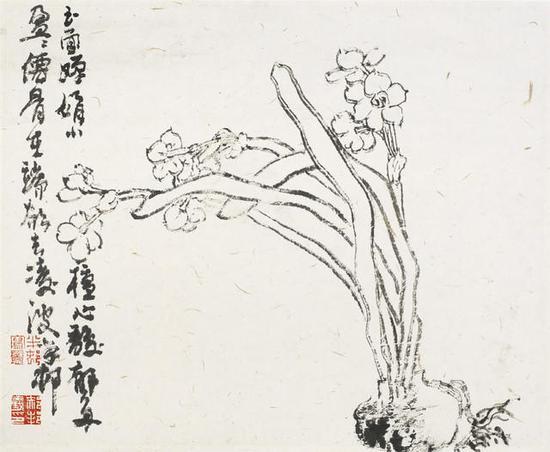 凌波仙子 34x34cm