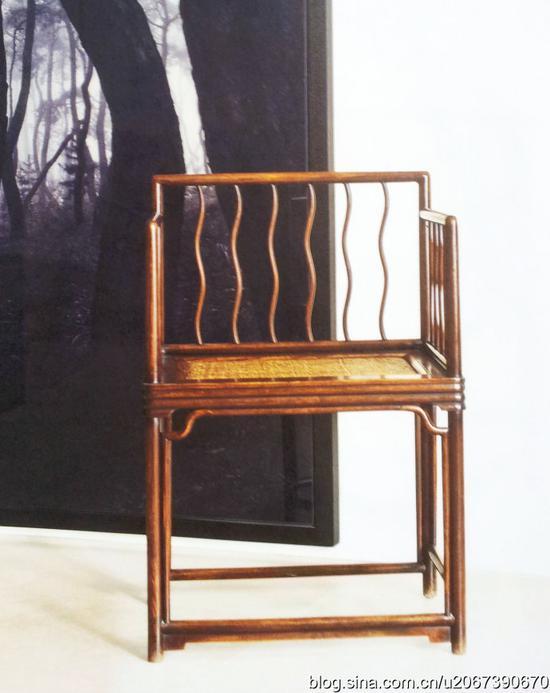 明末 黄花梨玫瑰椅 马科斯藏 见于《中国古典家具私房观点》