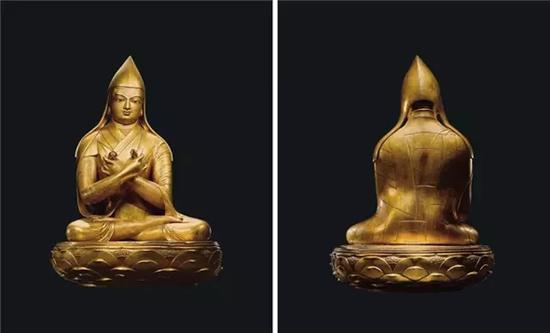 蒙古17世纪 铜鎏金哲布尊丹巴像·扎那巴扎尔 成交价7302.5万元