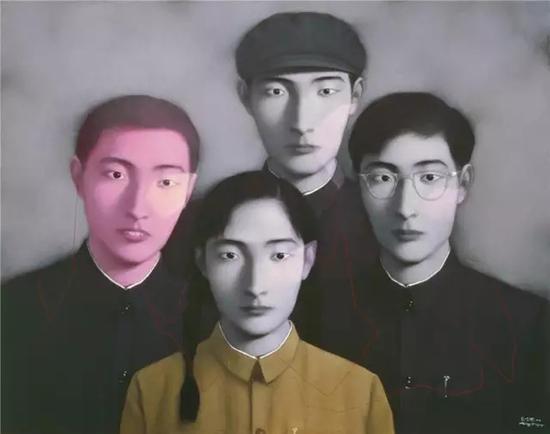 张晓刚 血缘:大家庭二号 成交价3818万元