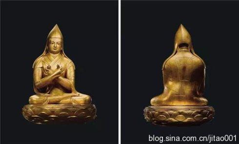 蒙古17世纪 铜鎏金哲布尊丹巴像·扎那巴扎尔