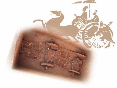 礼县大堡子山遗址K32全景图片由甘肃省文物考古研究所提供