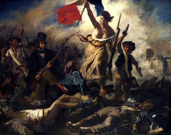 《自由领导人民》 德拉克洛瓦 1830年