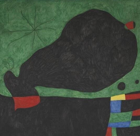 胡安·米罗(Joan Miró i Ferrà)的《来自朋友的消息》(Message From a Friend)。图/取自telegraph。