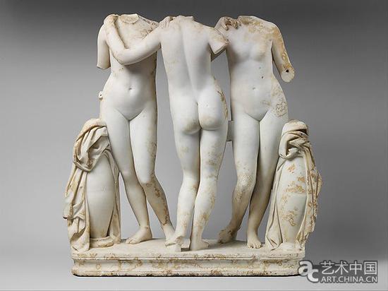 《美惠三女神》雕塑作品