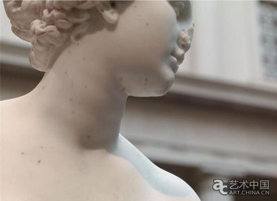 《阿弗洛狄忒》大理石雕塑作品细节
