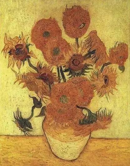 《十五朵向日葵》 1888年 梵高博物馆