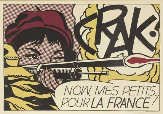 罗伊·利希滕斯坦,《CRAK!》(约1963–1964)。图片:Courtesy Sothebychr(39)s。