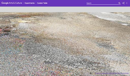 """谷歌文化学院""""策展人书桌""""的截图。"""