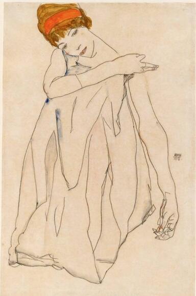 《舞者》,席勒。图片来源:美国国家美术馆