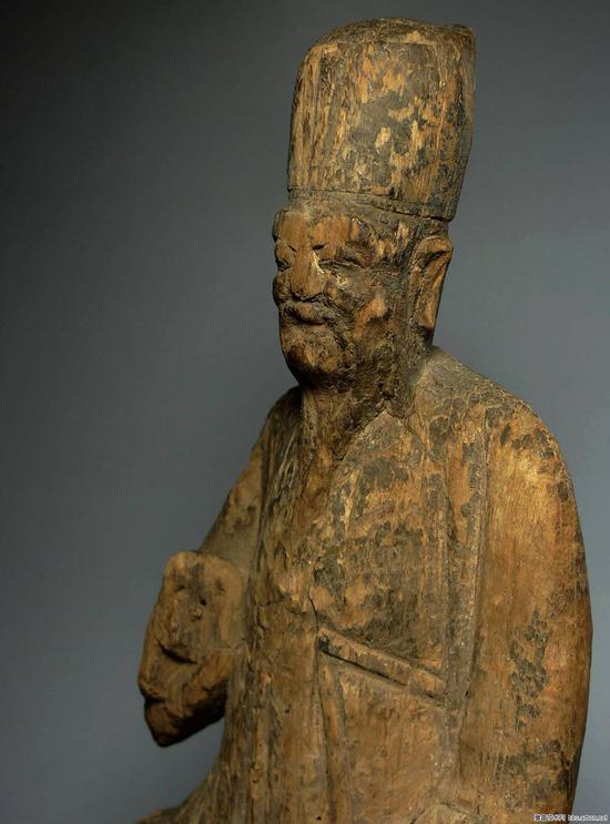 元代至明代木雕财神坐像