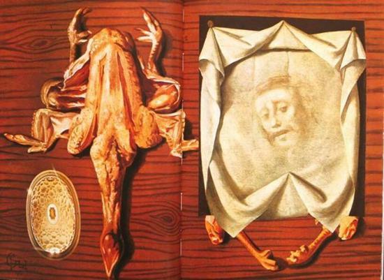 ▲达利《鸡与基督》(Chicken and Christ),1973。