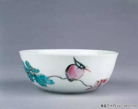 粉彩瓷碗 大英博物馆馆藏