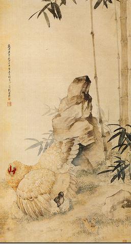 1997秋拍嘉德刘奎龄《大吉图》,99×54cm,成交于4.95万元