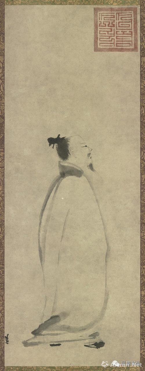 南宋 梁楷 太白行吟图纸本墨笔 81.2×30.4cm 东京国立博物馆藏
