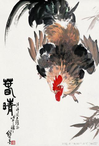 2002嘉德春拍刘继卣《大吉图》,92.5×61.5cm,成交于3.08万元