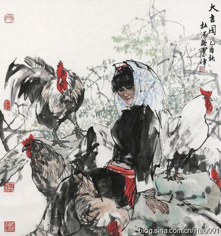 2014保利春拍杜滋龄《大吉图》,96×90cm,成交于13.8万元