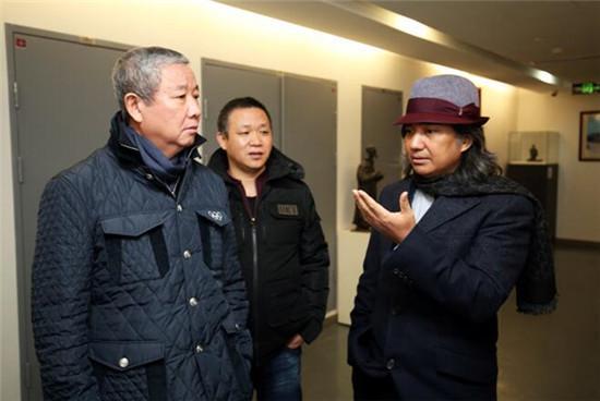 国际奥委会副主席于再清赴吴为山工作室考察