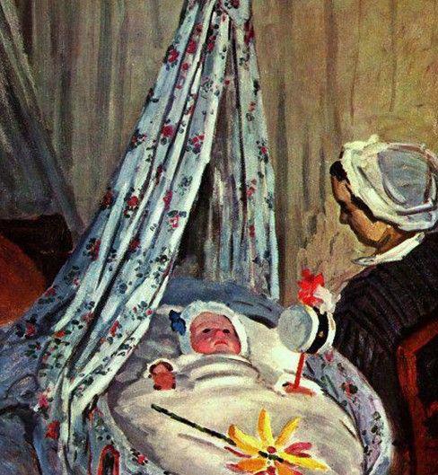 1867《摇篮里的杰·莫奈》