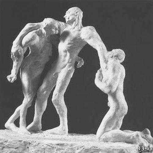 卡米耶-克洛岱尔《成年(早期版本)》,石膏,1894年,巴黎罗丹美术馆藏