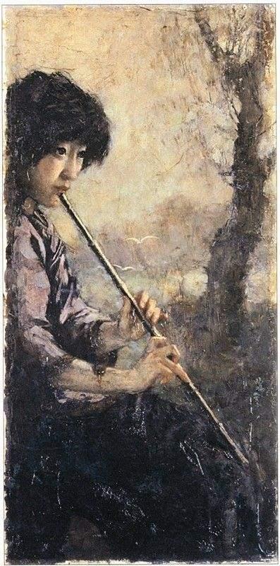 《萧声》1926年作,油彩,39*80cm