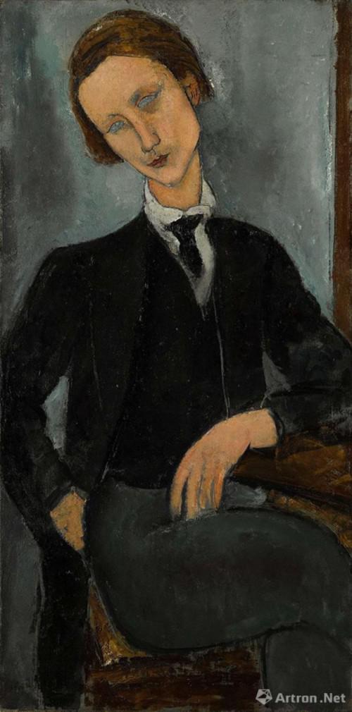 亚美迪欧 · 莫迪里安尼(Amedeo Modigliani ) 《巴拉诺夫斯基肖像》