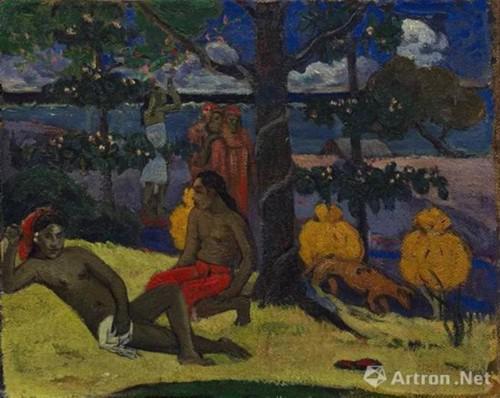 保罗 · 高更(Paul Gauguin ) 《王后—女子与芒果(II)》