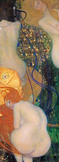 克林姆特的《金鱼》,瑞士所罗桑美术馆藏