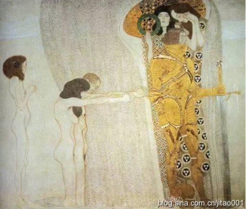 克林姆特的《贝多芬横饰带》
