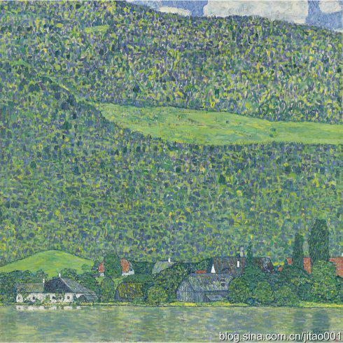 2011年11月纽约蘇富比克林姆特《阿特湖畔的利茨尔贝格》,成交于4040万美元