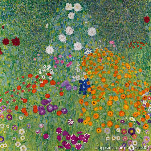 即将拍卖的克林姆特的作品《花园》
