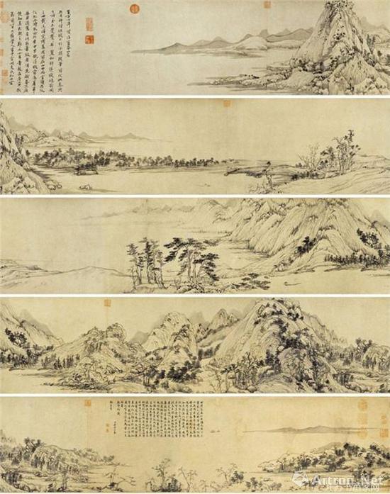 元朝画家黄公望《富春山居图》