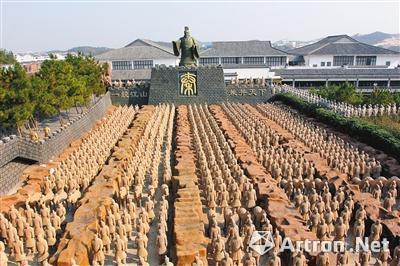 安徽山寨兵马俑群(图片来源网络)