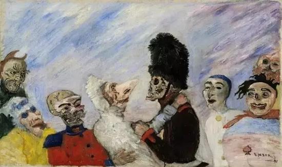 《骷髅们引人注目的假面舞会》,恩索尔,782万美元,2016苏富比巴黎