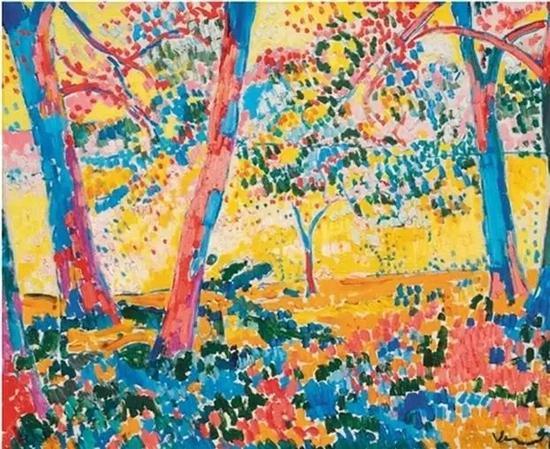 《树荫下(风景)》,弗拉芒克,以1640万美元,2016纽约苏富比