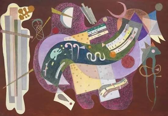 《坚硬与弯曲》,康定斯基,2330万美元,2016纽约佳士得