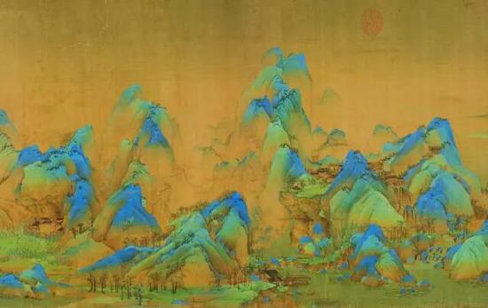 《千里江山图》局部