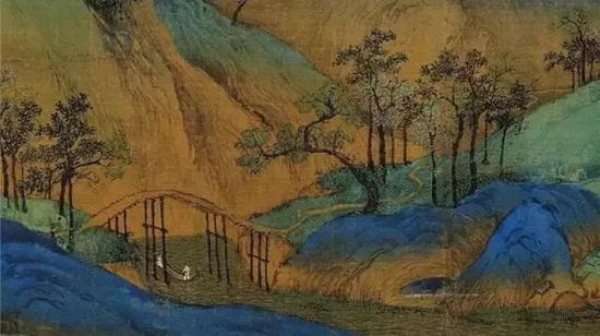 《千里江山图》细节