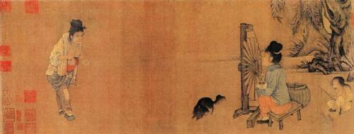 北宋 王居正 《纺车图》