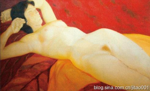 尚扬《人体》 70×112cm 2011保利秋拍拍出94.3万元