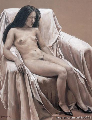 喻红《人体》 52×41cm 2009保利秋拍成交于6.16万元