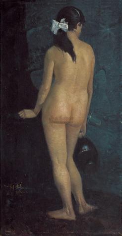 罗中立《人体》 141×75cm 2004华辰秋拍成交于24.2万元