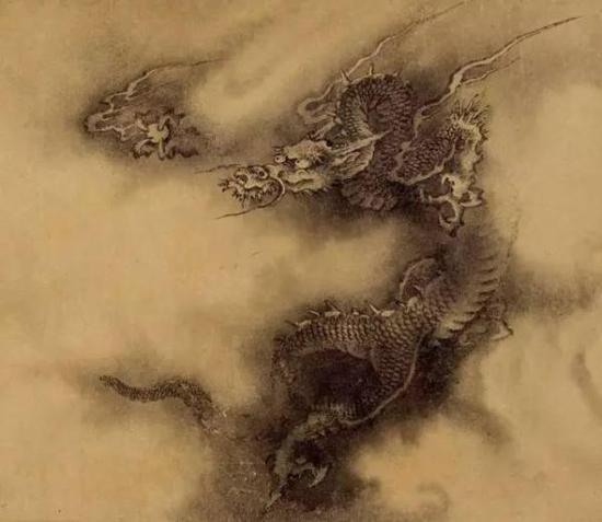 石渠宝笈 记载为陈容 六龙图 (局部)