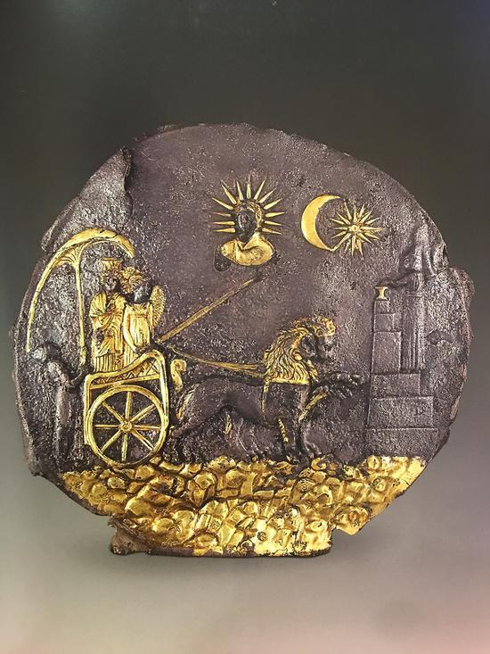 阿伊哈努姆的西布莉图案饰板(公元前3世纪)